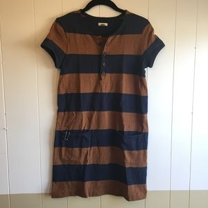 Fossil Retro Style Striped Shift Dress